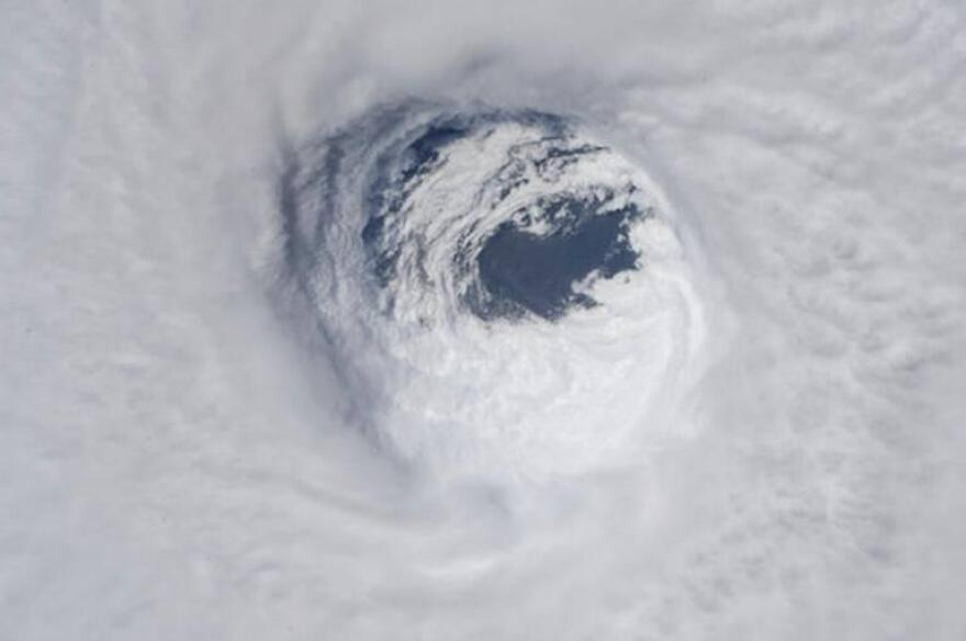 The eye of Hurricane Michael on Oct. 10, 2018.
