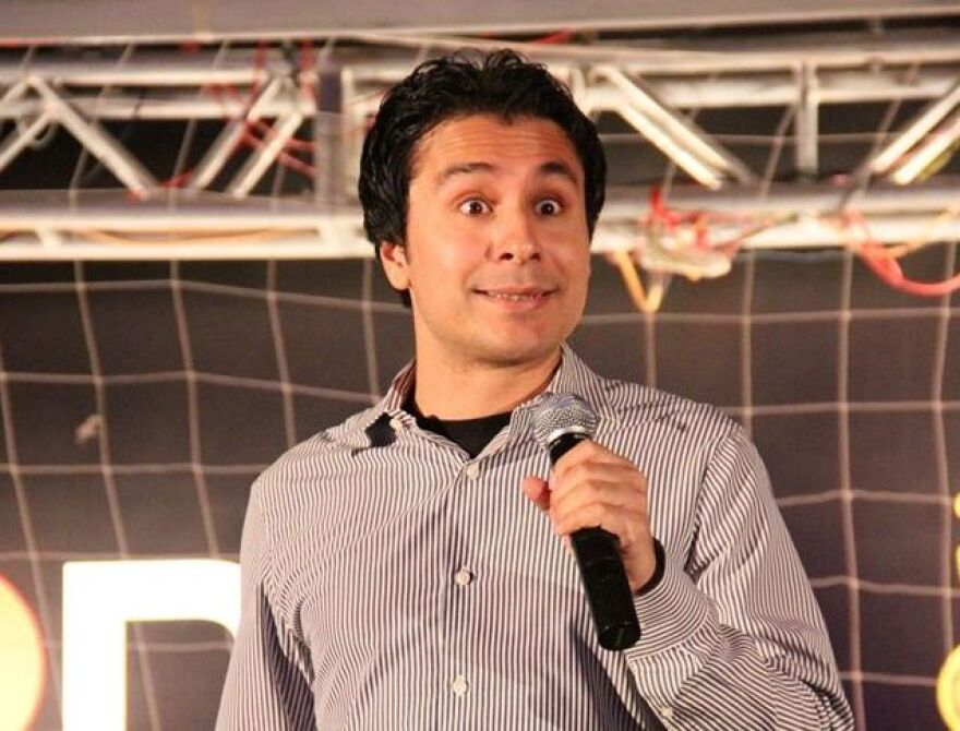 """Pakistani stand-up comedy pioneer Saad Haroon tests cultural sensitivities between his native country and India in his material.  """"When it comes to satire, I think as a culture, we kind of struggle with it,"""" he says."""