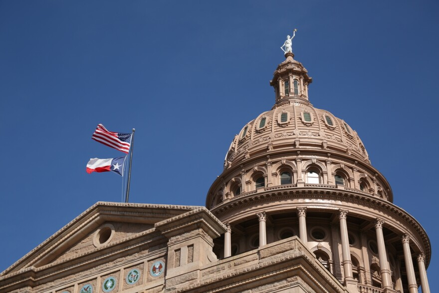 The Texas Capitol in Austin.