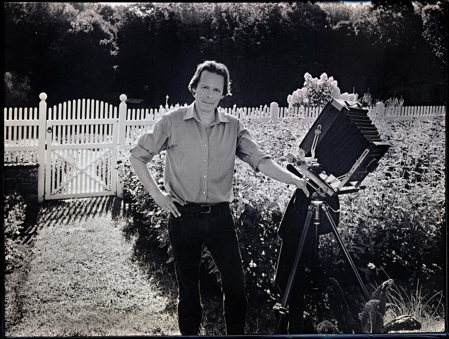 A portrait of Jerry Spagnoli with his large-format camera.