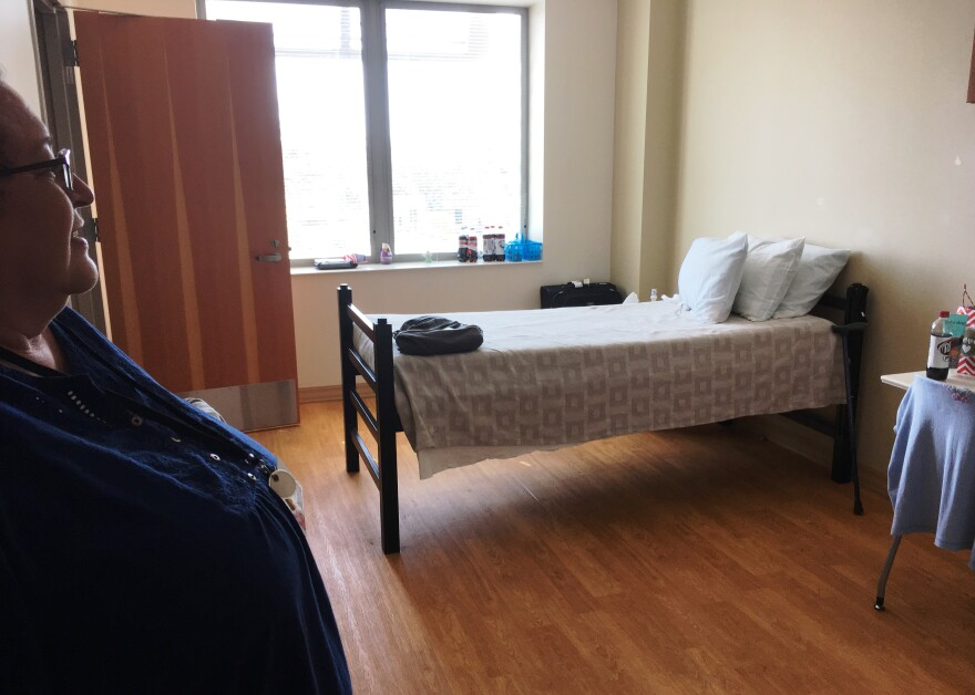 Most of the rooms are private for veterans attending residential, mental health programs at Bay Pines VA.