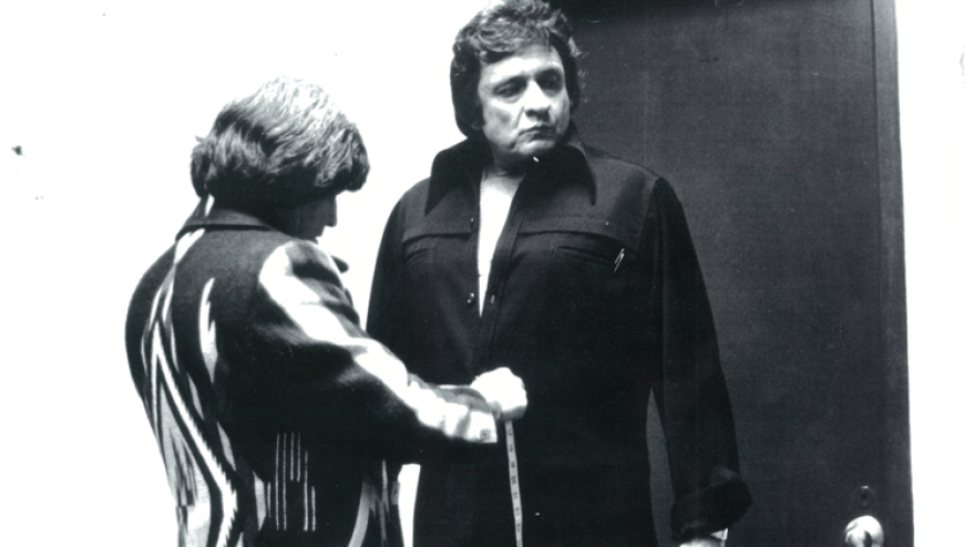 """Manuel Cuevas (left) is known for turning Johnny Cash into """"the Man in Black."""""""