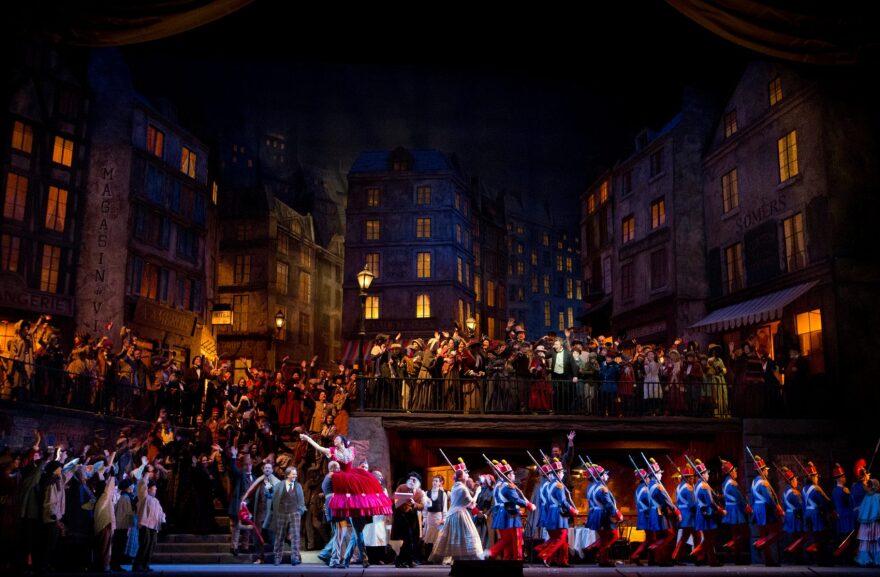 "A scene from Act II of ""La Bohème."" (Cory Weaver/Metropolitan Opera)"