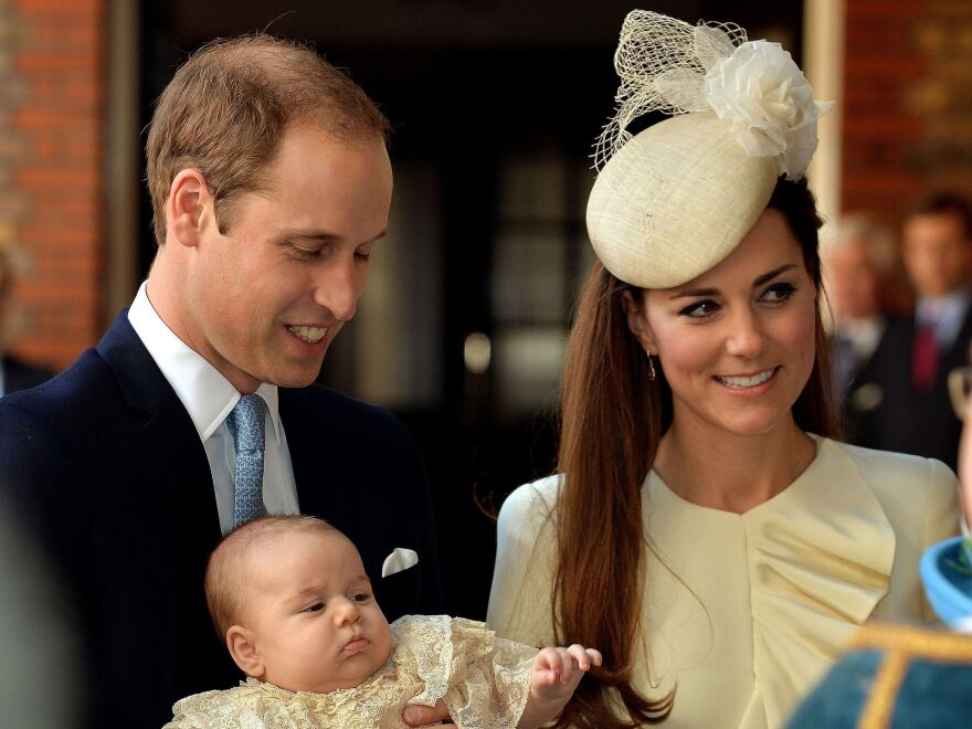 The Duke and Duchess of Cambridge with their first child, Prince George, who was born last July.