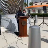 Anthony Holloway at the podium