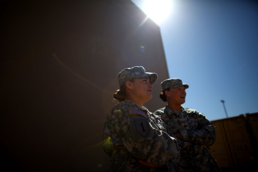 As part of a FET in Logar, Afghanistan, Keown, left, and O'Shea were involved in dozens of firefights.
