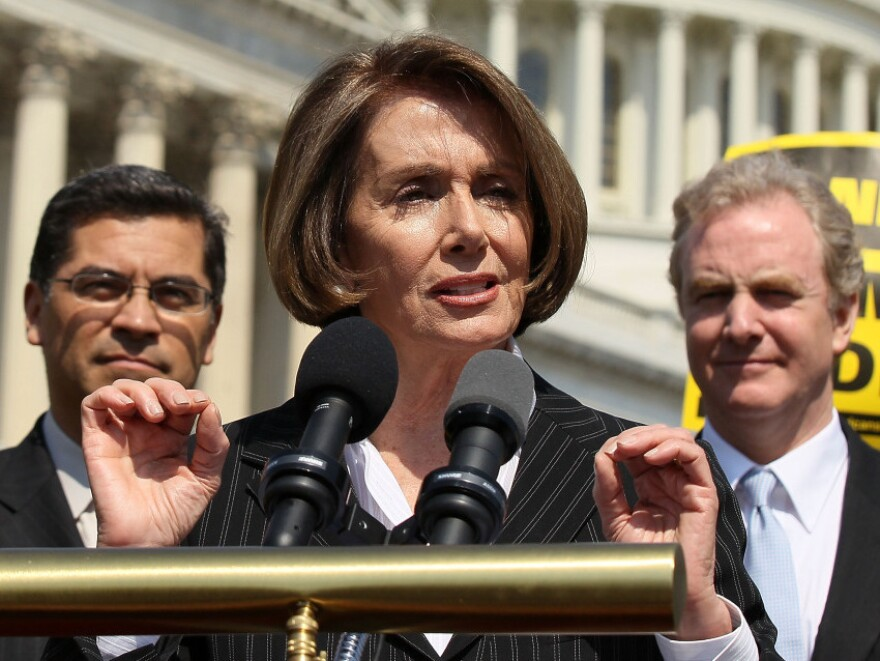 """Minority Leader Nancy Pelosi warns the House's budget would """"abolish Medicare as we know it."""""""