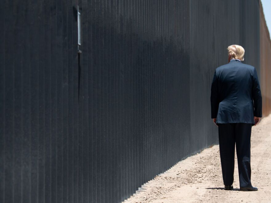 President Trump last visited his border wall — one of his signature election promises — in Arizona in June.
