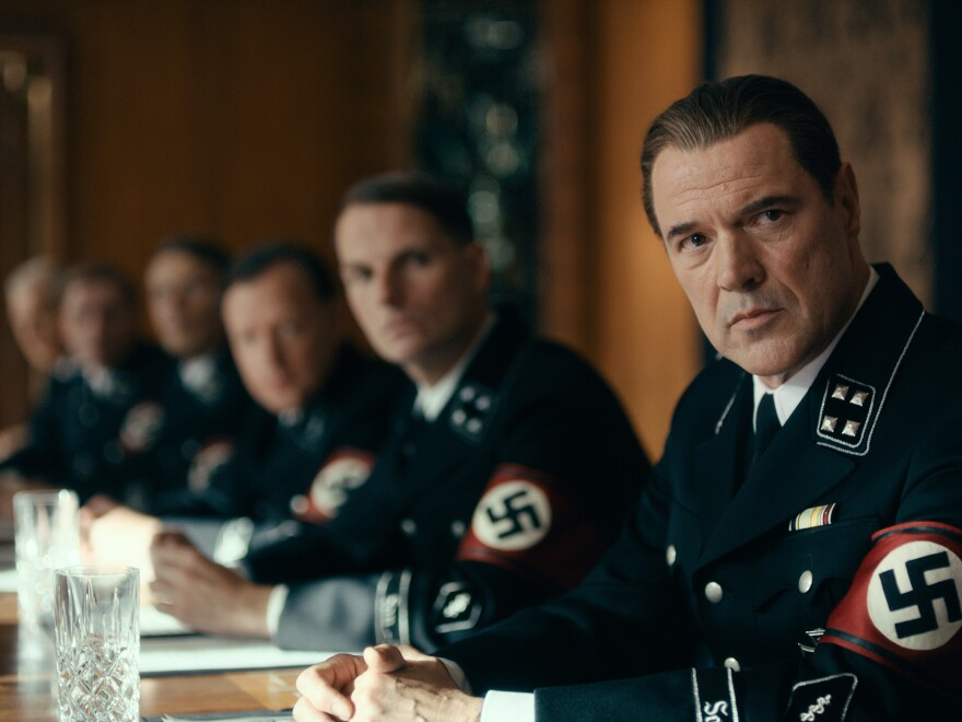 Actor Sebastian Koch plays Carl Seeband, a gynecologist with a Nazi past, in <em>Never Look Away.</em>