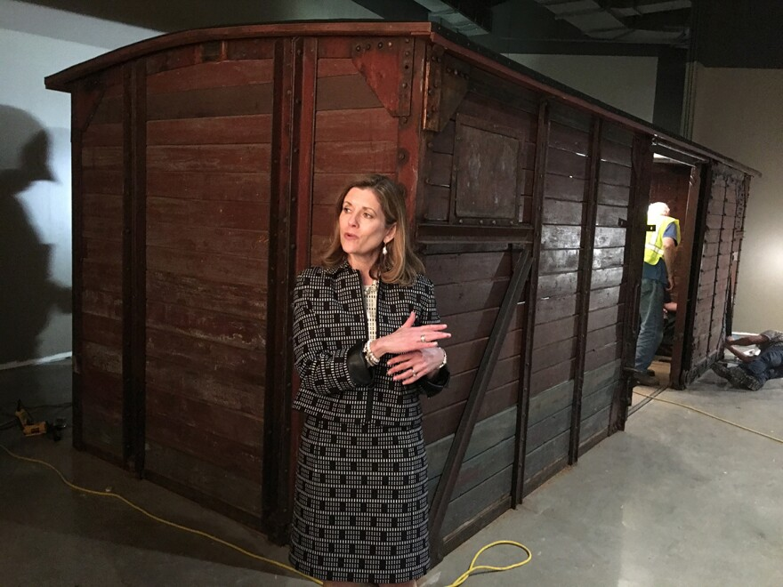 Mary Pat Higgins, president and CEO, discusses the iconic German rail car that will be on display at the new museum.