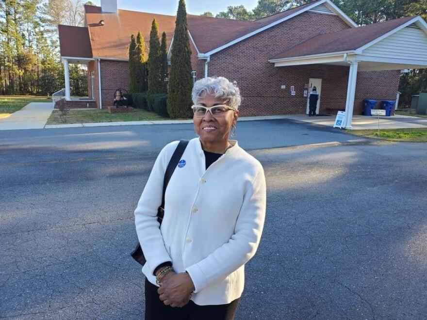 Juanita Love voted for Elizabeth Warren Saturday in Rock Hill.