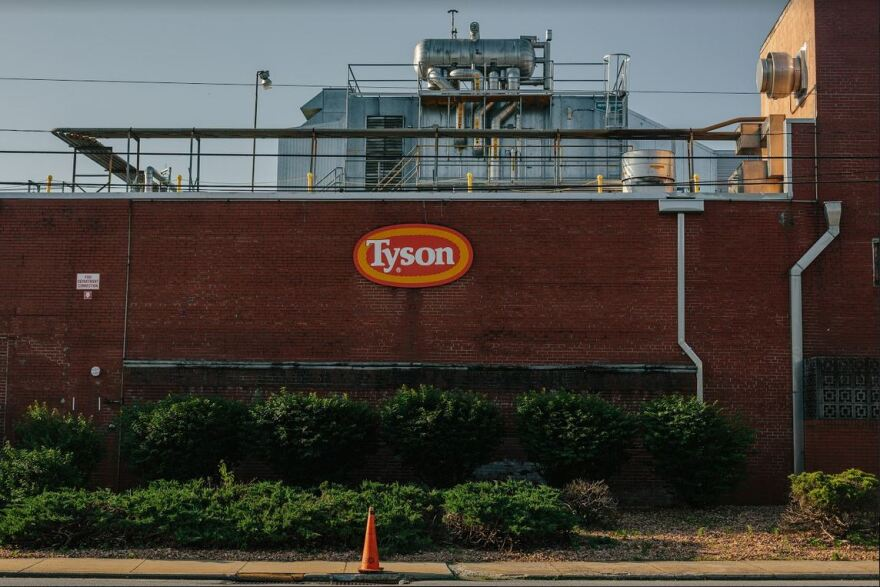 Tyson Farms meat processing plant in Wilkesboro was temporarily closed for cleaning after workers tested positive for COVID-19.