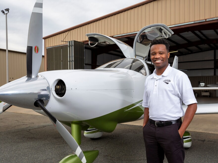 Courtland Savage founded the nonprofit Fly for the Culture to attract young people of color to jobs in aviation. As a child, Savage says he never met a Black pilot.