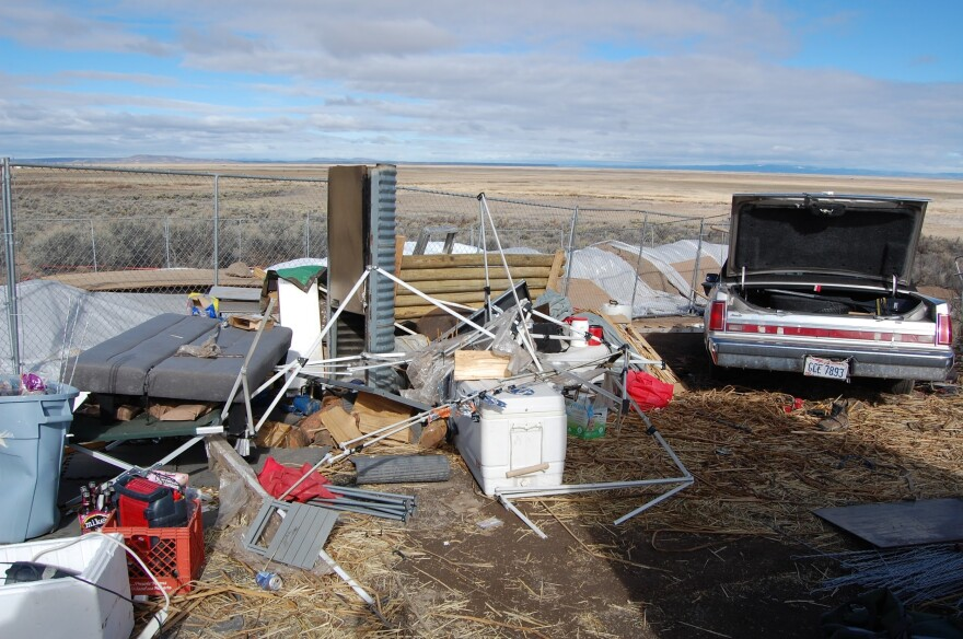 A photo from the U.S. Fish and Wildlife Service shows the Malheur National Wildlife Refuge after the armed occupation in January and February.