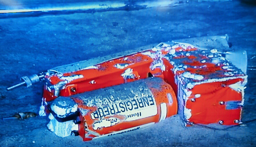 The flight data recorder from the 2009 Air France flight that went down in the Atlantic.