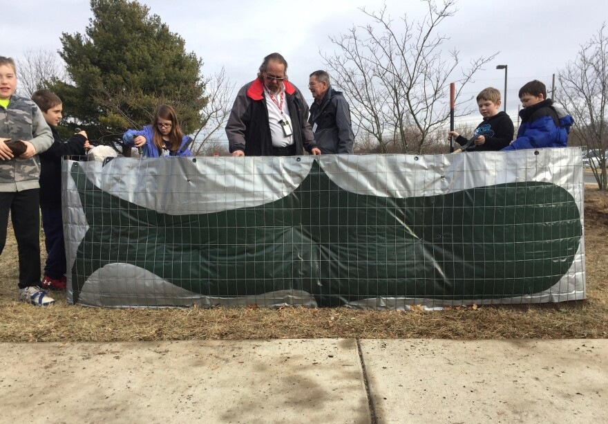 One of three raised garden beds at North Jefferson Elementary; the Orca garden.