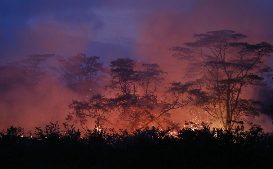 It's been a challenge for Tama to document how beautifully terrifying lava flows can be.