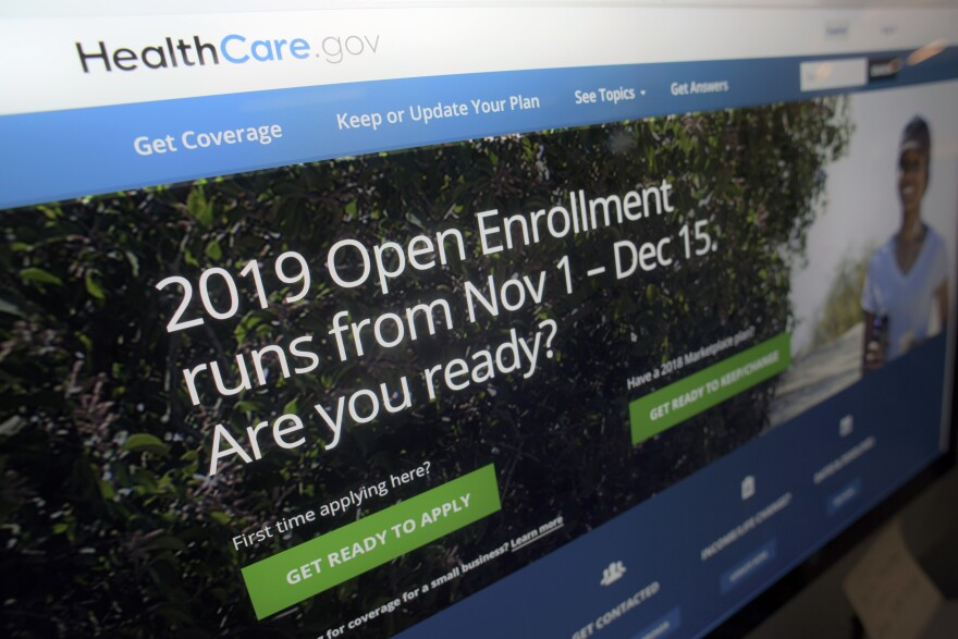 This Tuesday, Oct. 23, 2018 photo shows HealthCare.gov website on a computer screen. The sign-up period for next year's individual health insurance coverage ended Dec. 15.