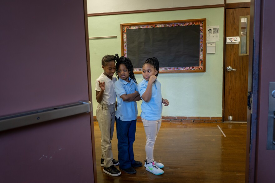 Students, such as these at Ashland Elementary School in St. Louis, will need to maintain a lot more personal space than they did back on Jan. 7, 2020, if schools reopen in August.