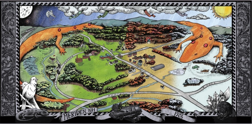 Click to see an interactive map of Meriden, N.H., with stories from Okkervil River's Will Sheff about his childhood there.