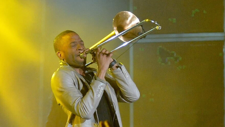 Musician Trombone Shorty attends the 63rd NBA All-Star Game 2014 at the Smoothie King Center on February 2014 in New Orleans.
