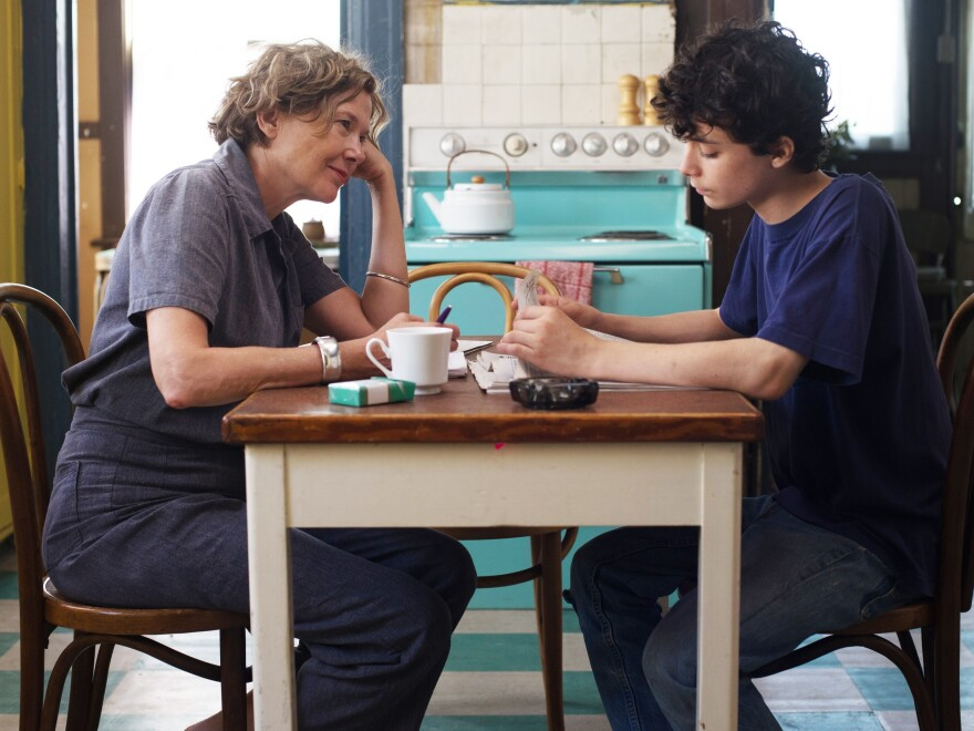 Annette Bening and Lucas Jade Zumann play a mother and son in Mike Mills' film, <em>20th Century Women.</em> Mills says the film was inspired by his own life.
