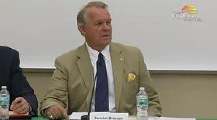 Sen. Doug Broxson (R-Gulf Breeze) speaking during Monday's Santa Rosa County Legislative Delegation Meeting.