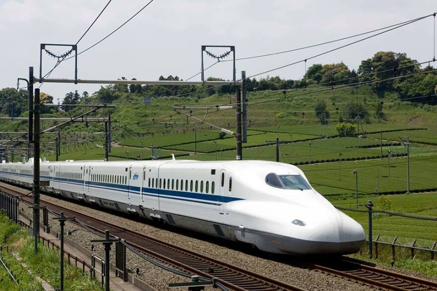 A high-speed train similar to this one could connect Dallas and Houston - but not if some state legislators get their way.