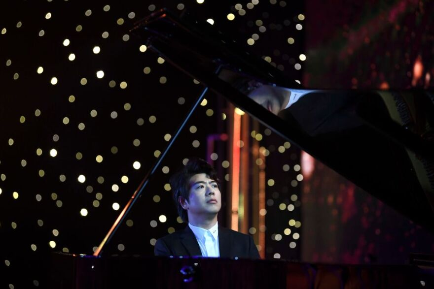 """Pianist Lang Lang attends the release ceremony of his latest recording of Johann Sebastian Bach's """"Goldberg Variations"""" on Sept. 4, 2020 in Beijing, China. (Beijing Youth Daily/VCG via Getty Images)"""