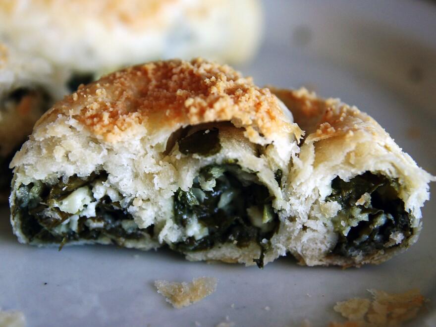 Called a <em>boyo</em> or <em>bulema</em>, this Turkish-style pastry was traditionally made for the Jewish Shabbat. Today, <em>boyos</em> are mostly reserved for holidays like Hanukkah.