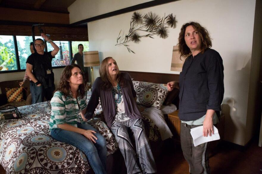 "Writer Jill Soloway (right) says she feels more creative when she's dressed ""more masculine"" — meaning jeans and a T-shirt."