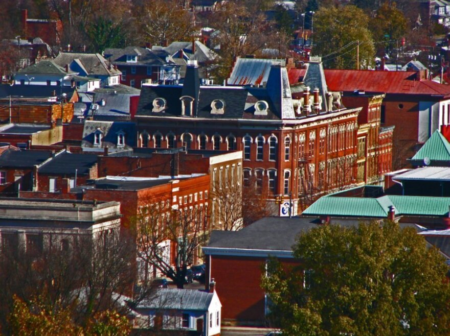 Chillicothe, Ohio as viewed from the historic Mountain House area.