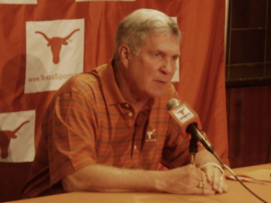 UT Head Football Coach Mack Brown at news conference, October 25, 2010