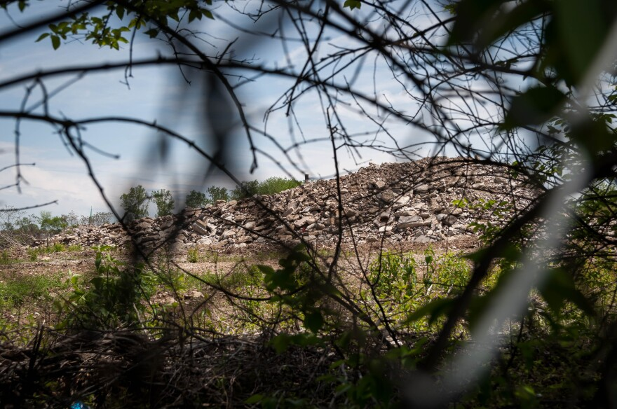 The rubble placed on the former Pruitt-Igoe site is free of contamination, city and state officials said, but health experts say if putting so close to the school generated high levels of dust, people can still get sick. May 6, 2018