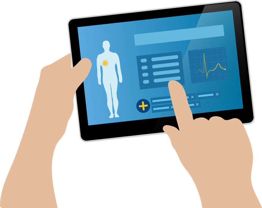 illustration of electronic health records