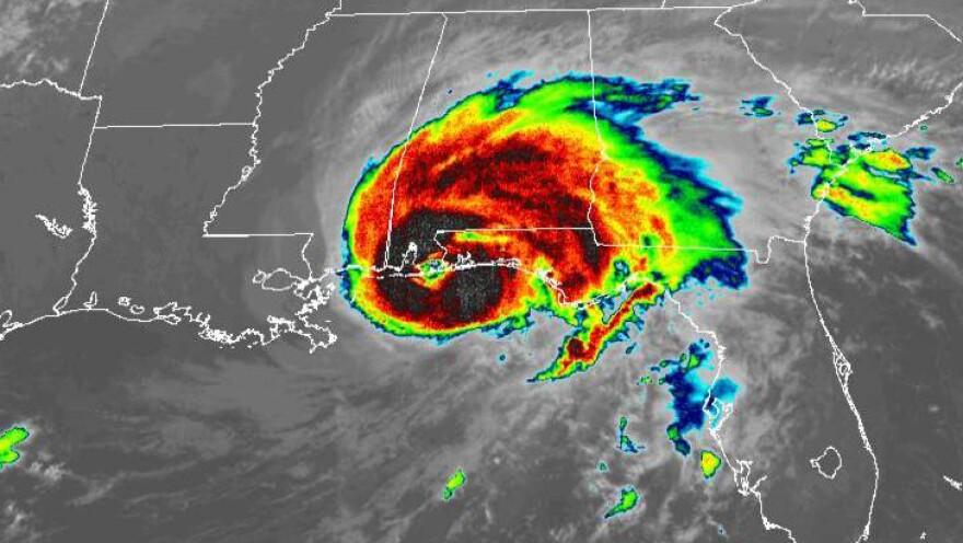 Hurricane Sally made landfall early Wednesday morning near Gulf Shores, Ala.