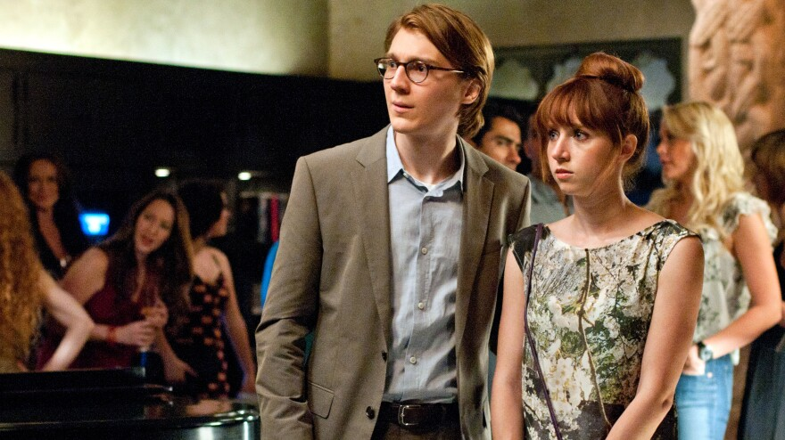 Calvin (Paul Dano) with the woman he manifested from his typewriter, Ruby Sparks (Zoe Kazan). Kazan also wrote the film <em>Ruby Sparks</em>, which is directed by the team behind <em>Little Miss Sunshine</em>.