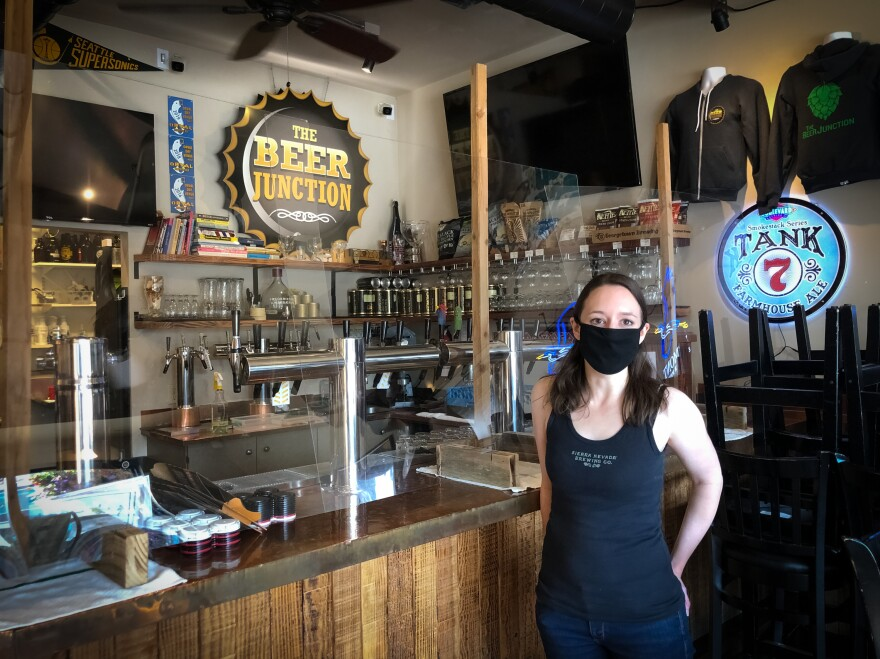 The pandemic is taxing the nation's bar owners such as Allison Herzog, who runs The Beer Junction in Seattle. After shutting down indoor service in the spring, Herzog was finally able to reopen this summer. Within a month, the coronavirus was spreading again, and she was forced to close for a second time.