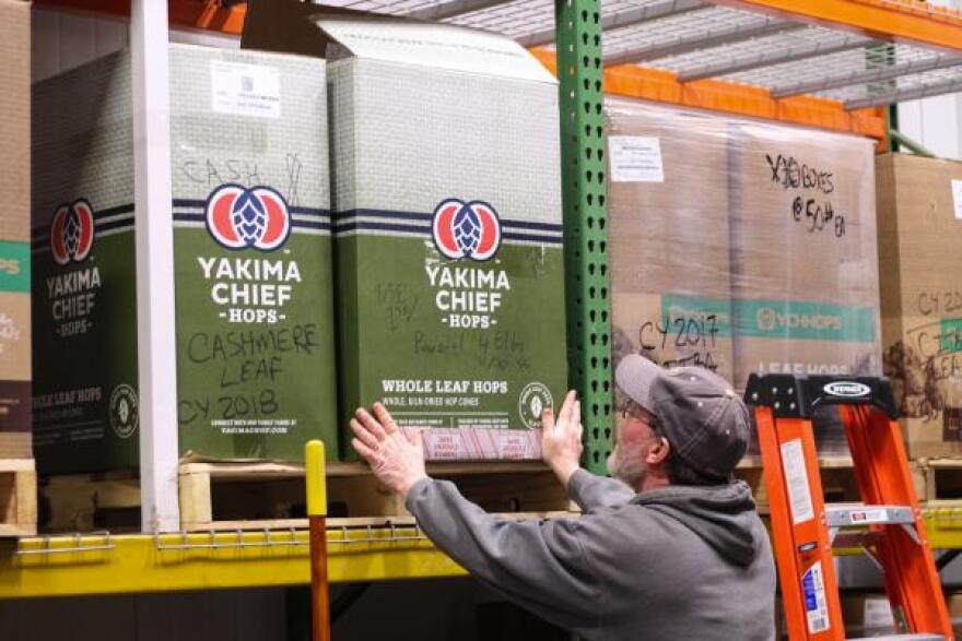At Odell Brewing Company, most of the hops come from the Yakima Valley in Washington, a state that grows the most hops in the nation and is among the top producers in the world.