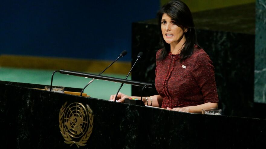"U.S. Ambassador to the U.N. Nikki Haley told the General Assembly on Thursday: ""To its shame, the United Nations has long been a hostile place for the state of Israel."""