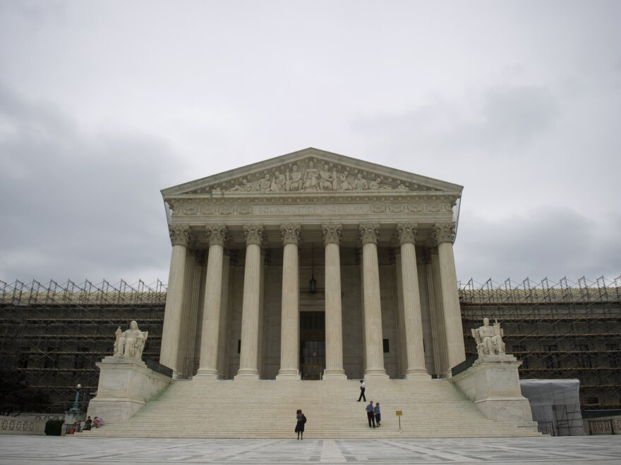 Waiting for word: The U.S. Supreme Court building.