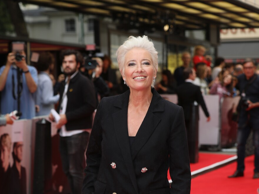 Emma Thompson, shown here at a film premiere last year, has pulled out of the animated film <em>Luck</em>.