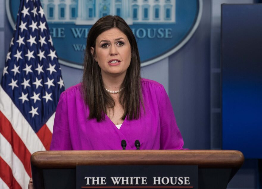 Deputy White House Press Secretary Sarah Huckabee Sanders speaks at the press briefing at the White House in Washington, D.C., on June 27, 2017. (Nicholas Kamm/AFP/Getty Images)