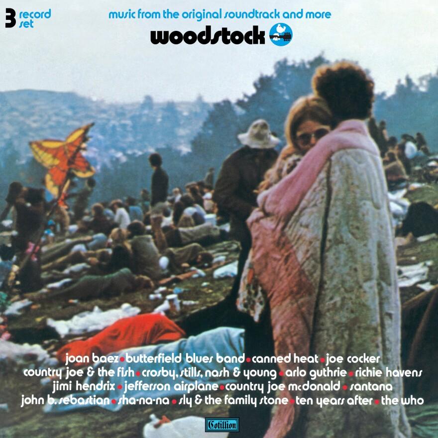 The album cover to the original soundtrack of <em>Woodstock</em>.
