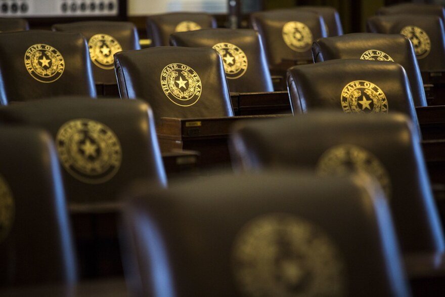 leather seats in the Texas House of representatives chamber