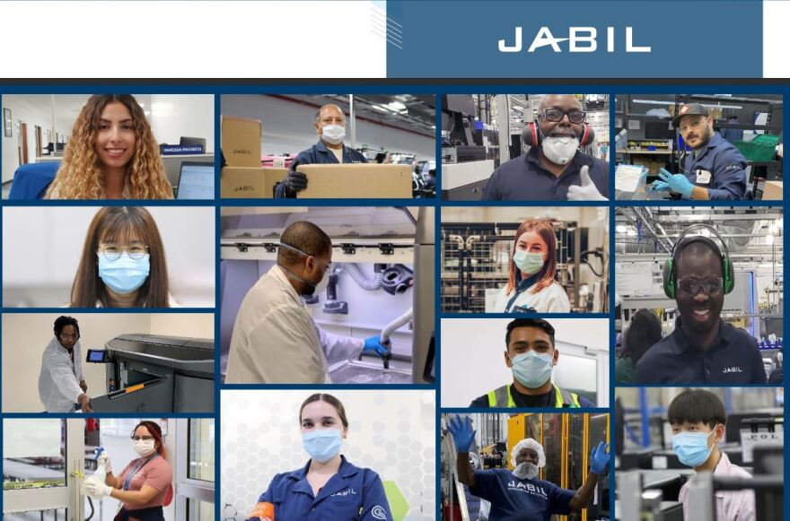 Jabil workers montage