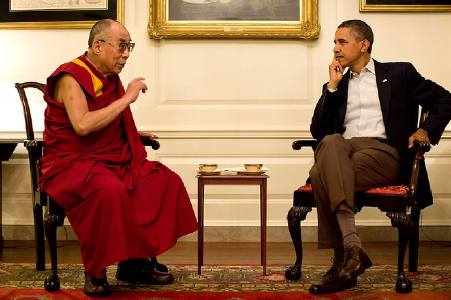President Obama meets with the Dalai Lama at the White House on Saturday.