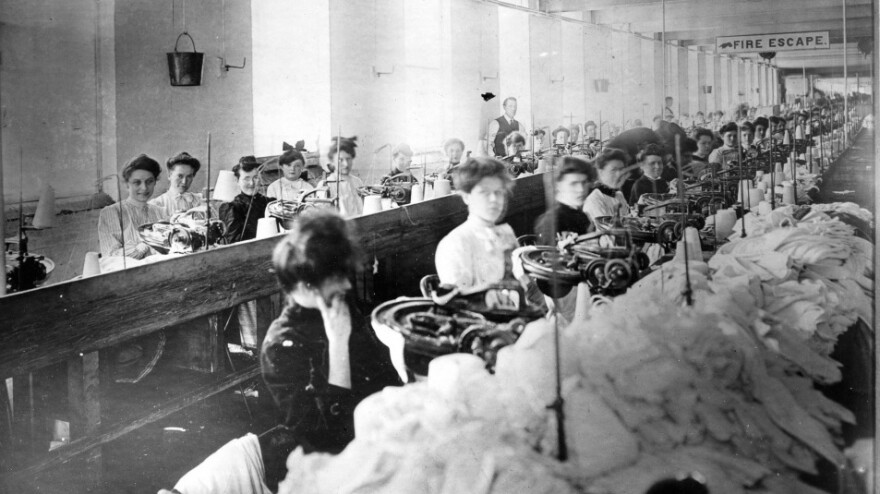 <strong>Young Laborers:</strong> Most of the garment workers in the Triangle Shirtwaist factory were young, immigrant women. On March 25, 1911, the New York City building caught fire, and 146 workers lost their lives in one the country's worst workplace tragedies.