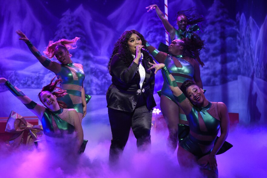 Lizzo performs on <em>Saturday Night Live</em> in December 2019.