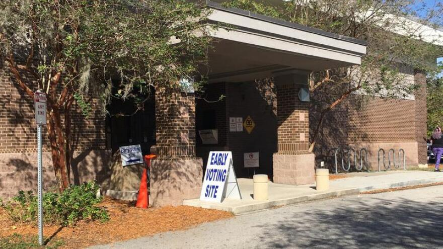 Early voting is now underway at locations across Jacksonville, including the Regency Square Branch Library (pictured).